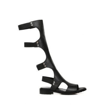 Trendy High Top and Elastic Band Design Sandals For Women