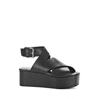 Trendy Cross-Strap and Platform Design Sandals For Women