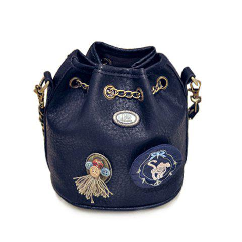 Stylish Embroidery and Buttons Design Shoulder Bag For Women
