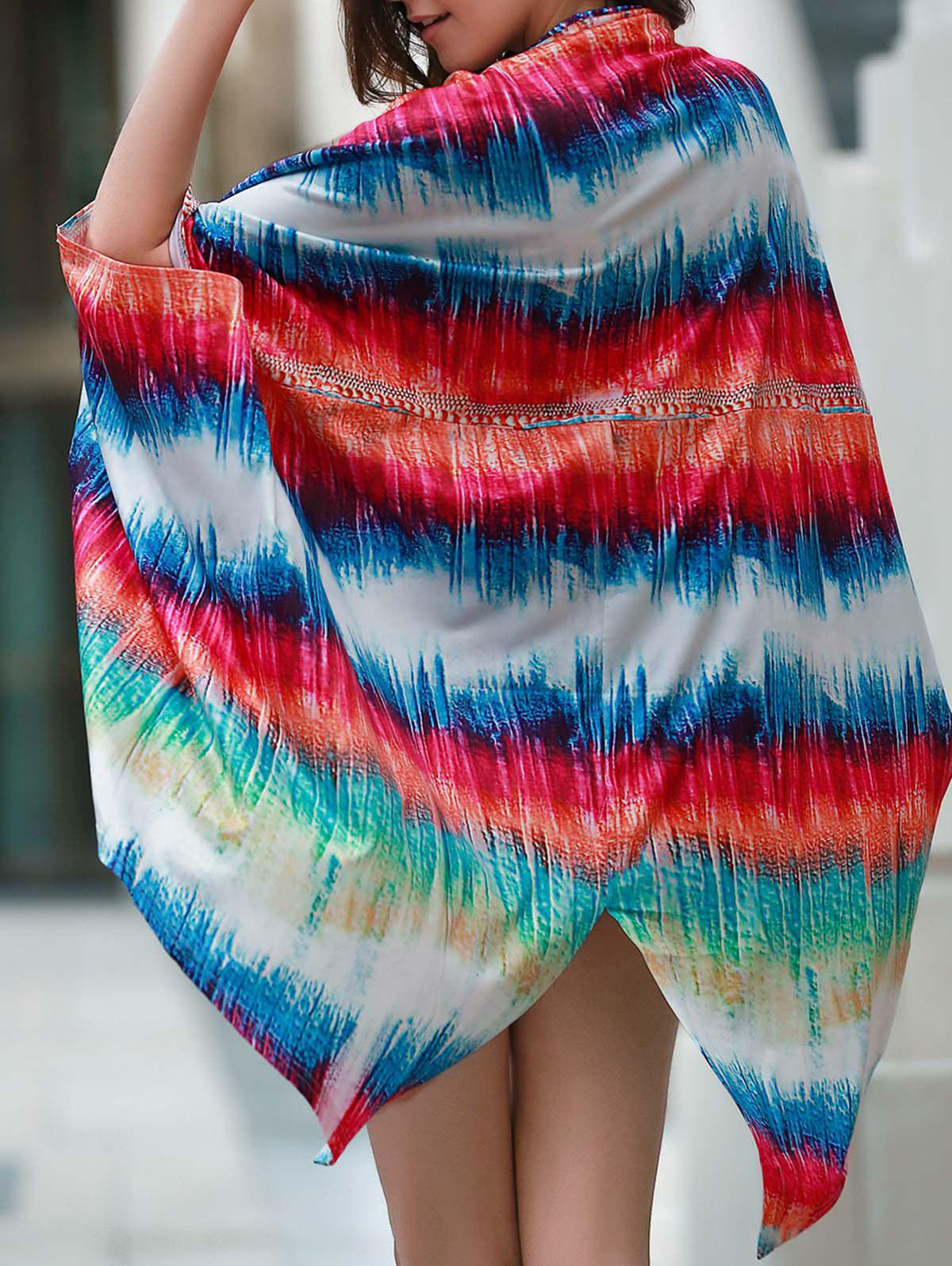 Trendy Colorful Loose Beach Cover-Up For Women