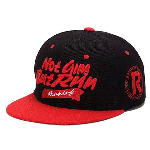 Fashion Hand Written Letters and Scroll Shape Embroidery Baseball Cap - RED