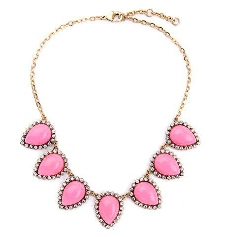 Charming Rhinestone Water Drop Necklace For Women charming rhinestone water drop necklace for women