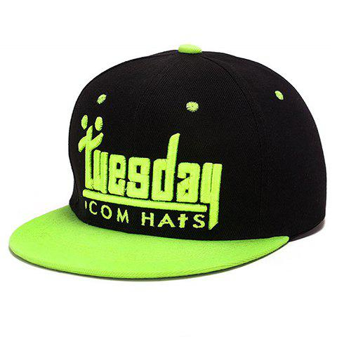 Trendy Tuesday English Word Shape Embroidery Baseball Cap
