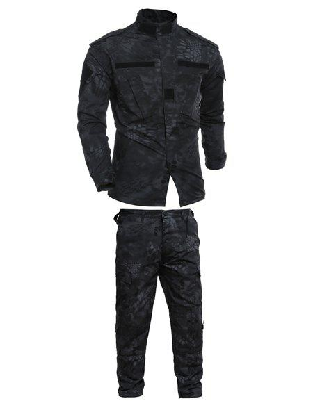 Pockets Men's Stand Collar Printing Training Suits (Jacket+Pants) - CAMOUFLAGE S
