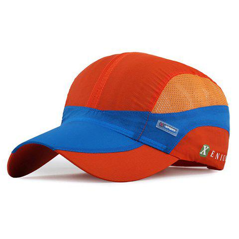 Trendy Breathable Mesh Color Block Sport Baseball Cap