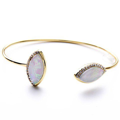 Delicate Rhinestone Faux Gem Cuff Bracelet For Women