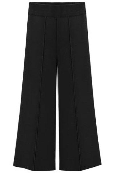 Brief Women's Black Plus Size Ninth Pants - BLACK XL