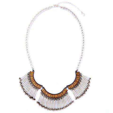 Chic Exaggerated Faux Crystal Necklace For Women