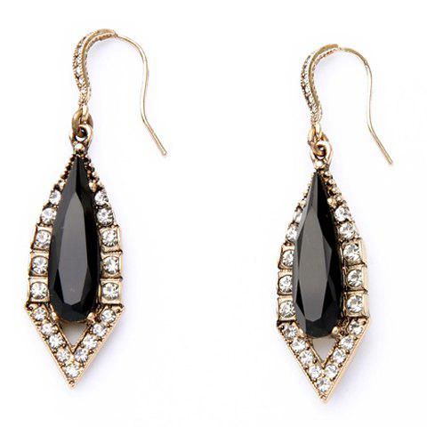 Pair of Gorgeous Rhinestone Geometric Earrings For Women