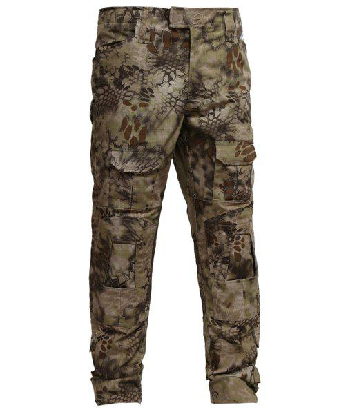 Outdoor Pockets Training Camo Pants For Men - CAMOUFLAGE XL