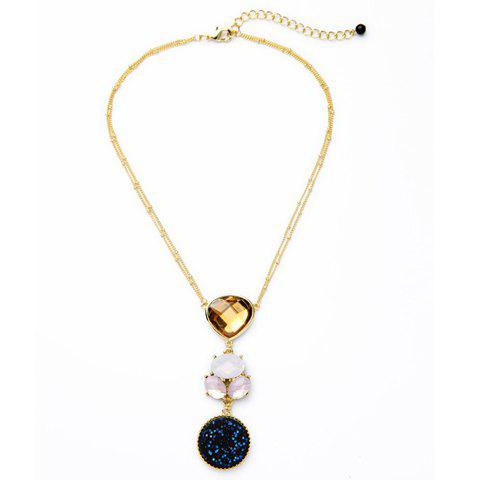 Stunning Faux Opal Pendant Necklace For Women