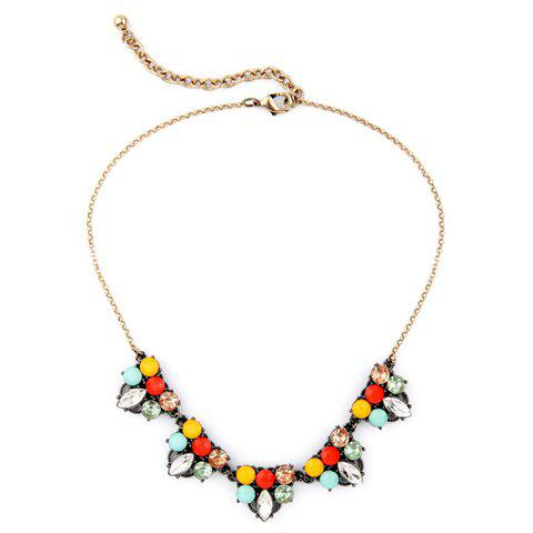 Delicate Colored Rhinestone Necklace For Women