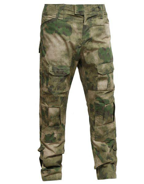 Men's Pockets Outdoor Training Camouflage Pants - CAMOUFLAGE XL