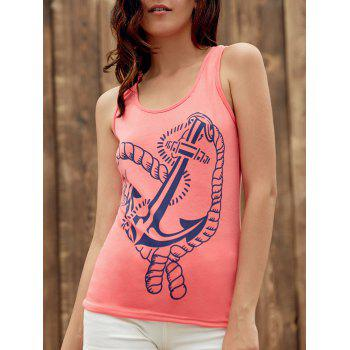 Graphic Anchor Print Tank Top