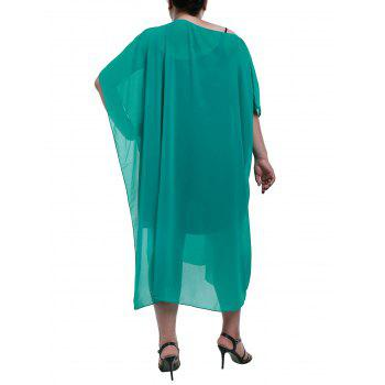Sexy Women's Skew Collar Asymmetrical Cover-Up - TURQUOISE 3XL