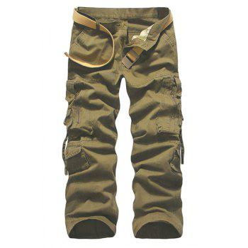 Solid Color Muiti-pockets Plus Size Cargo Pants For Men