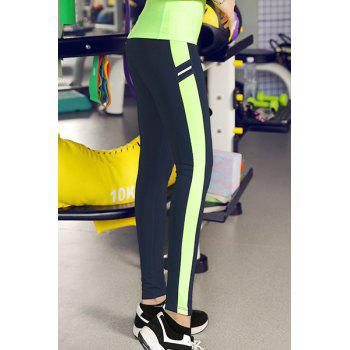 Slimming Color Block Bodycon Women's Gym Pants