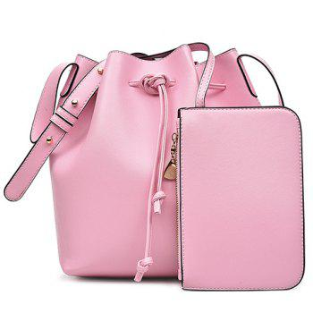 Casual Solid Color and String Design Women's Crossbody Bag