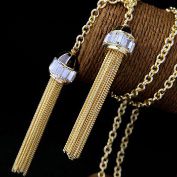 Gorgeous Rhinestone Sweater Chain For Women -  GOLDEN
