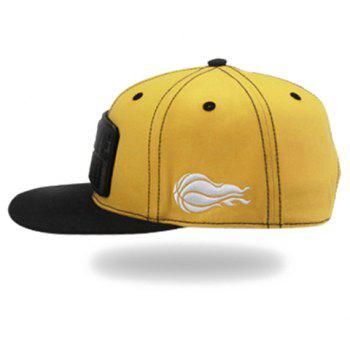 Stylish Letter and Rectangle Shape Embellished Men's Baseball Cap - YELLOW