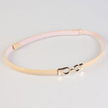 Chic Hollow Out Ellipse Hasp Women's Slender PU Belt