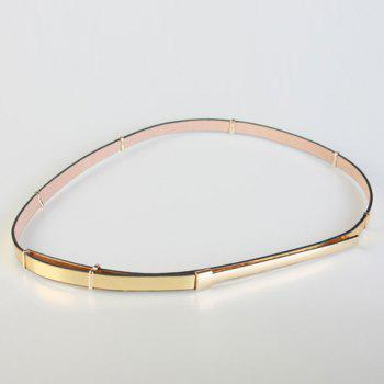 Chic Metal Hidden Buckle Adjustable Women's Slender PU Belt