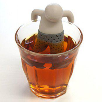 High Quality Creative Silicone Tea Filter Sea Little People Shape Teabags Strainer