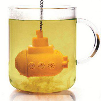 High Quality Creative Silicone Tea Filter Sea Submarine Shape Teabags Strainer
