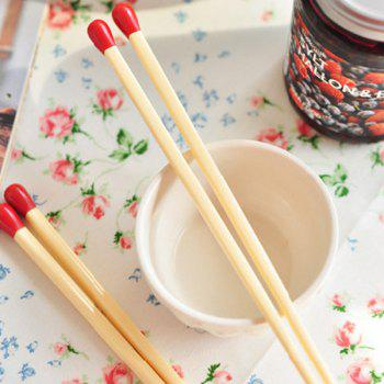 2 Pair High Quality Kitchen Supplies Matchstick Shape Wood Chopsticks