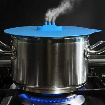 High Quality Microwave Oven Heating Pot Cover Spill Proof Steam Ship Shape Silicone Steaming Lid