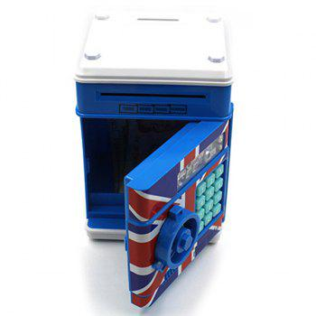 High Quality Creative L'Union Jack Motif Mot de passe fort Shape Box Money Box Plastic - Rouge et blanc et bleu