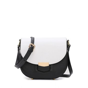 Trendy Color Block and Cover Design Crossbody Bag For Women