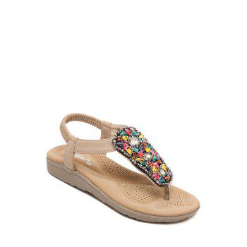 Bohemian Rhinestone and Colorful Stone Design Sandals For Women