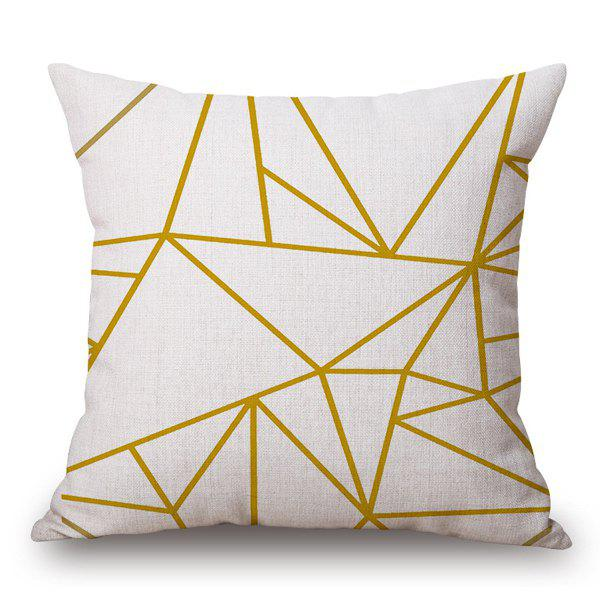 Stylish Irregular Lines Pattern Cotton and Linen Pillow Case(Without Pillow Inner) - OFF WHITE