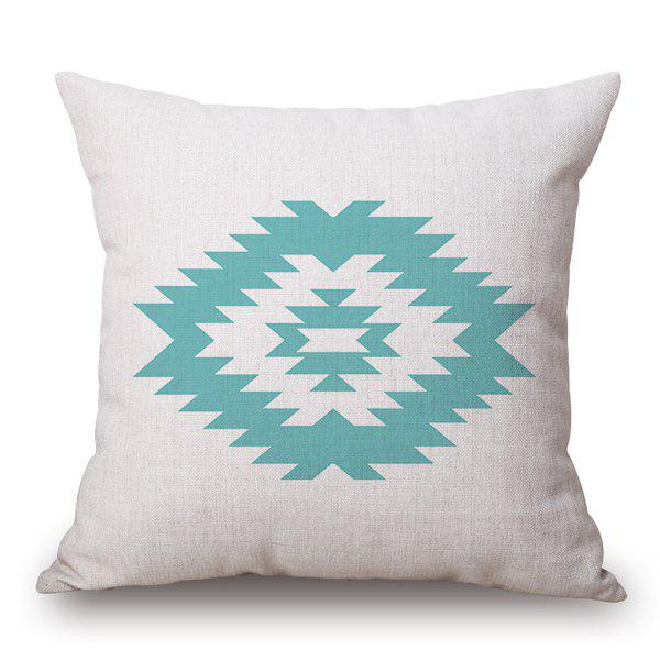 Elegant Irregular Figure Pattern Cotton and Linen Pillow Case(Without Pillow Inner) - OFF WHITE