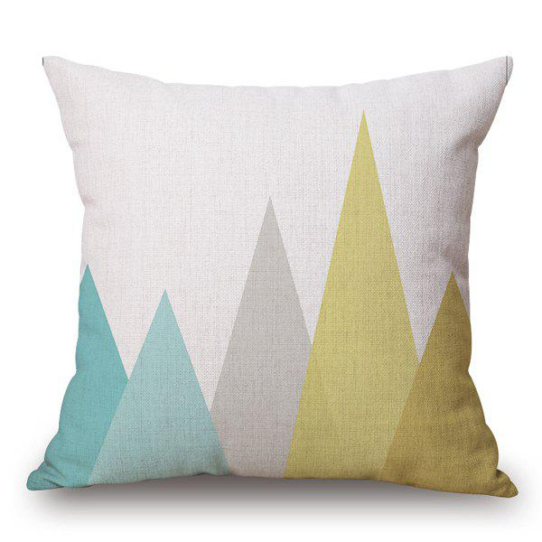 High Quality Cotton and Linen Colorful Geometric Design Pillow Case(Without Pillow Inner) - COLORMIX