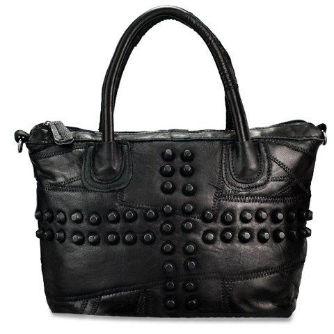 Trendy Stud and Black Design Tote Bag For Women