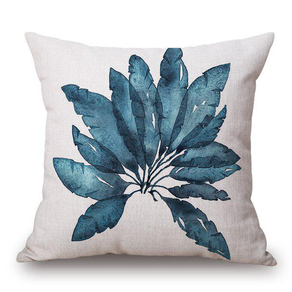 Fashionable Leaves Pattern Cotton and Linen Pillow Case(Without Pillow Inner) - COLORMIX