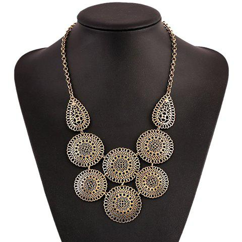 Gorgeous Round Hollow Out Necklace For Women