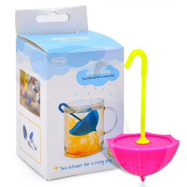 High Quality Creative Silicone Tea Filter Umbrella Shape Teabags StrainerHome<br><br><br>Color: ROSE