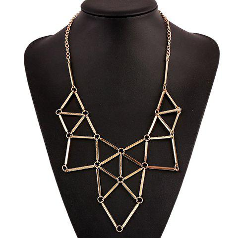 Spliced Geometry Necklace - GOLDEN
