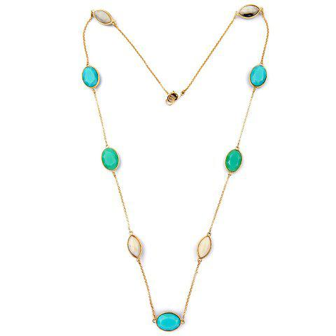 Simple Style Faux Gem Sweater Chain For Women