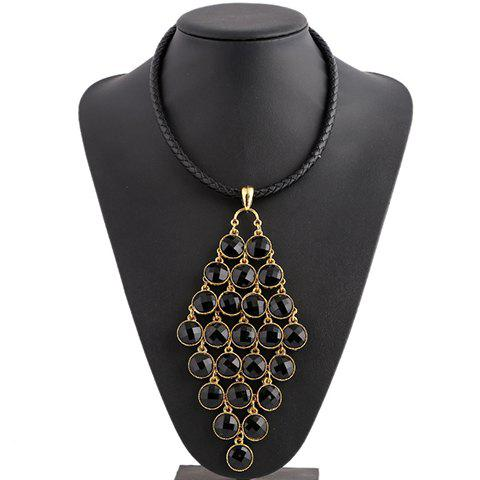 Gorgeous Artificial Gem Round Necklace For Women