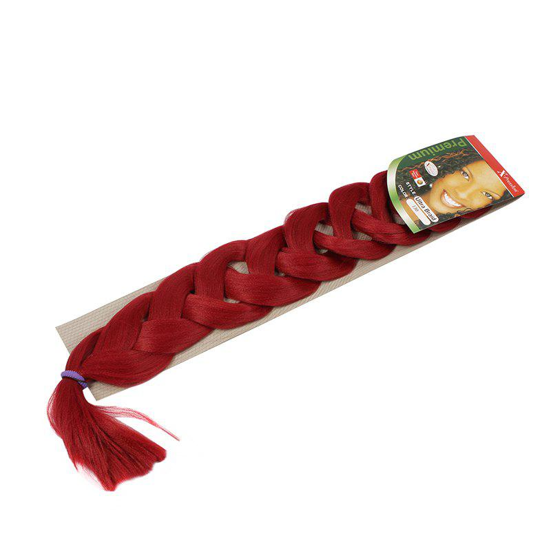 Fashion Heat Resistant Fiber Solid Color Jumbo Braided Hair Extension For Women - 130