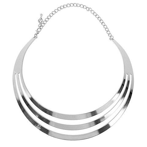 Gorgeous Solid Color Shiny Alloy Necklace For Women