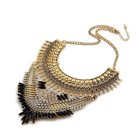 Gorgeous Artificial Gem Rhinestone Oval Necklace For Women