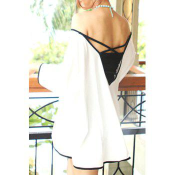 Stylish Women's V-Neck Backless Loose-Fitting Cover-Up
