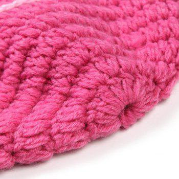 Sweet Handmade Crochet Knitted Rabbit Shape Hat Sleeping Bag Set Baby Clothes - PINK