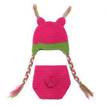 High Quality Owl Shape Handmade Crochet Knitted Beanie Hat and Shorts Set Baby Clothes -  ROSE