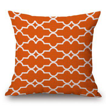 Hot Sale Cotton and Linen Square Shape Geometric Pattern Pillow Case(Without Pillow Inner)